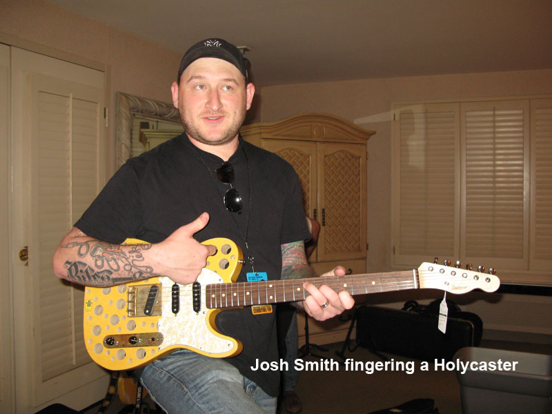 Josh Smith fingering a Holycaster